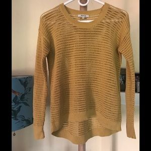 Madewell Northshore Cotton Sweater Mustard XZ